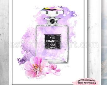 You'll Love This, Digital Download, Perfume Print, Fashion Decor, Watercolor Fashion, Dorm Room Print, Fashion Printable, Vanity Art Decor
