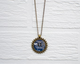 Computer science jewelry | Blue computer necklace | blue motherboard necklace | blue computer science jewelry | computer science gift