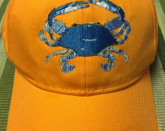 Custom Embroidered Crab Cap
