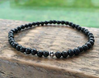 Jet bracelet, Jet stone bracelet, black amber, unisex, black bracelet, boyfriend, girlfriend, gift, son, daughter, protection