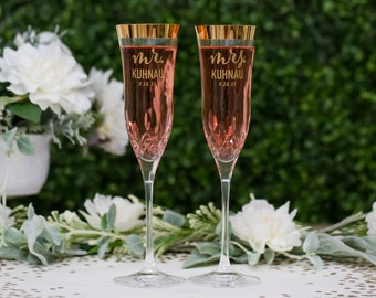 Personalized Kate Spade Hampton Street Champagne Glasses Set