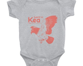 "Endangered Species Onesie ""Save The Kea"" Infant Bodysuit Short Sleeve"