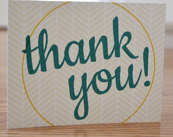 Thank You Note Card Set of 12