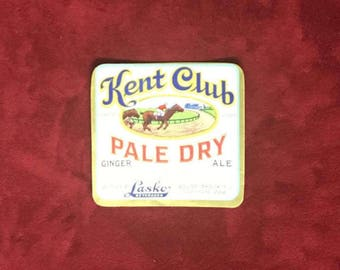 Original Kent Club Ginger Ale Soda Bottle label