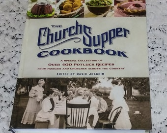 Church Supper CookBook   Collection of PotLuck recipes   EXCELLENT CONDITION