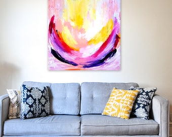 The Light That Burns Within 2 - 20x20 on Stretched Canvas, Abstract Art, Bright Home Decor, Wall Decor, Interiors, Fall Decor