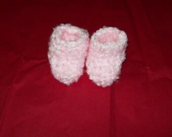 Fuzzy Baby Booties Socks Pink Baby Booties Slipper Socks 6 - 12 months