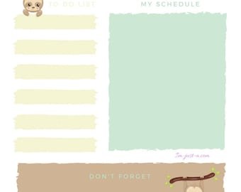 Slothful Daily Planner