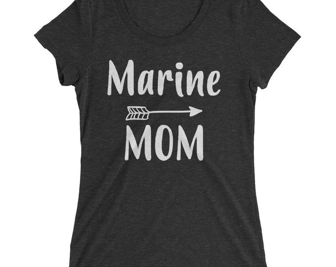 Marine Mom Shirt , Proud Marine Mom Shirt