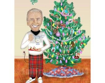 Holiday Cheer with Uncle Joe Print