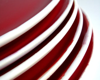 Handmade Stoneware Red Dinnerware - 6 Pieces Set - MADE TO ORDER