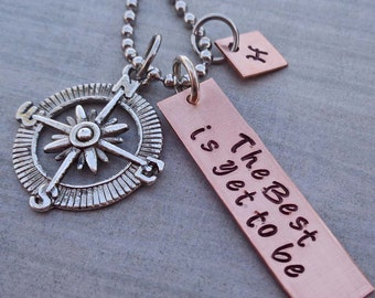 The Best is Yet to Be Personalized Graduation Necklace - School Student Grad High School College Gift - S225