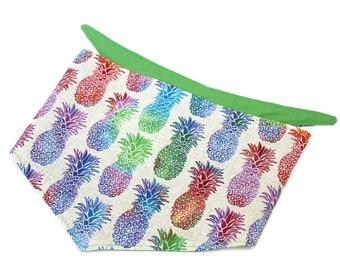 Pineapple Dog Bandana Colorful Dog Bandana Reversible Dog Bandana Summer Dog Bandana