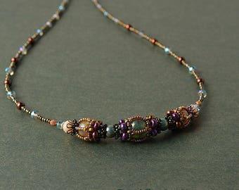Beadwoven Victorian Necklace