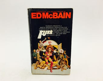 Vintage Pop Culture Book Fuzz by Ed McBain 1969 Movie Tie-In Edition Paperback