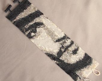 Johnny Depp Bracelet Pattern - Peyote Stitch Pattern