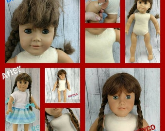 Hair Restoration and Repair for American Girl AG 18 inch dolls spa hospital