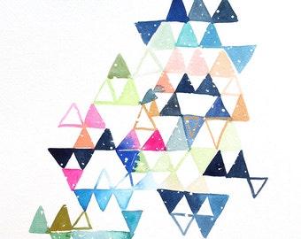 "10"" x 14"" Triangle Constellation - Original Painting"