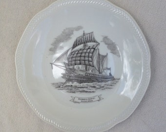 Vintage Collectible Homelines Sophia Ancient Athens 500BC Sailing Ship Boat Historic Plate