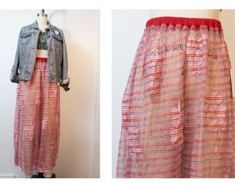 Trippy Sheer Daisy Multi Color Lace Pants Vintage Fabric Made to Order