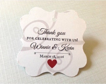 Wedding favor tags, Thank you favor tags, wedding tags, shower tags