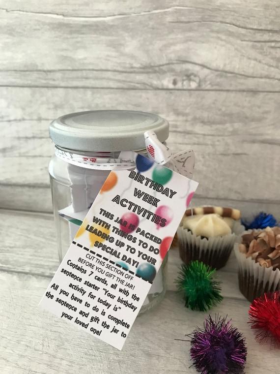 Birthday Week Activities Jam Packed Jar Gift
