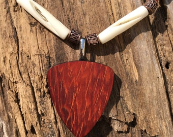 Wooden Guitar Pick Necklace