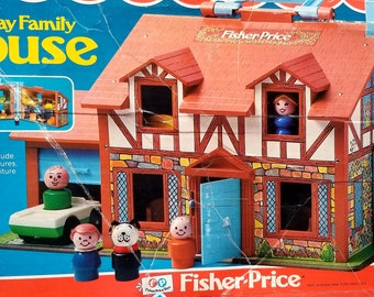 Vintage Fisher Price Cottage #952 w BOX