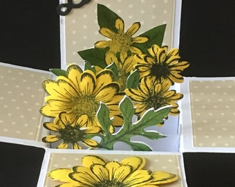3d Thank You Card flowers