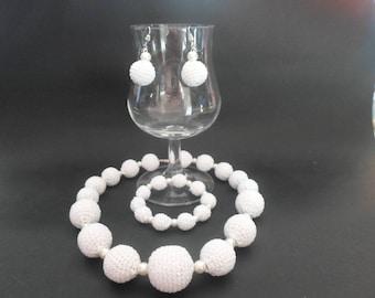 necklace, bracelet and Earring jewelry set earrings