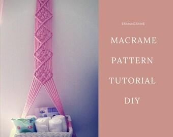 Macrame PDF Tutorial Hanging basket for the Nursery decor DIY macrame home decor