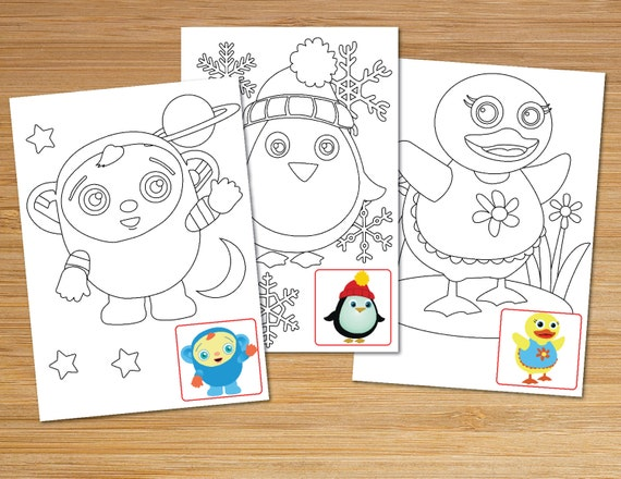 Baby First TV Printable Coloring Pages Instant Digital