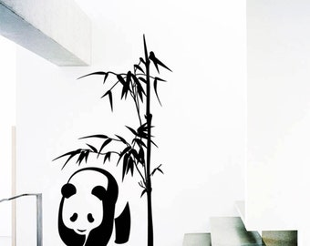 Panda Bamboo Wall Decal