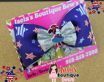4th of July tulle bow