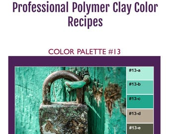 FIMO Professional Polymer Clay Color Mixing Recipes for Color Palette #13