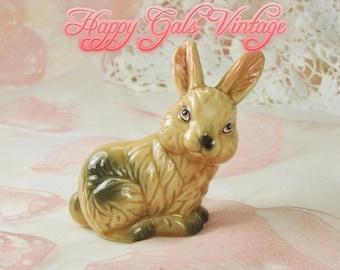 Brown Rabbit Figurine, Brown Bunny Figurine, Vintage Rabbit Figurine, Easter Bunny Figurine, Porcelain Rabbit, Porcelain Bunny Ceramic Bunny