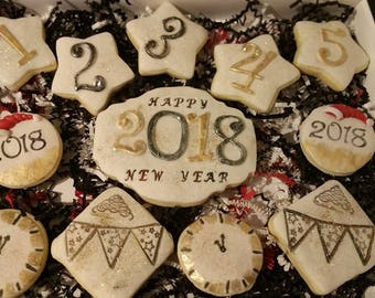 New year eve sugar cookies,New year's eve cookies,