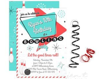 Bowling Invitation   Bowling Birthday   Bowling Party   Bowling   Bowling Invite   Bowling Party Invite   Birthday Invitation