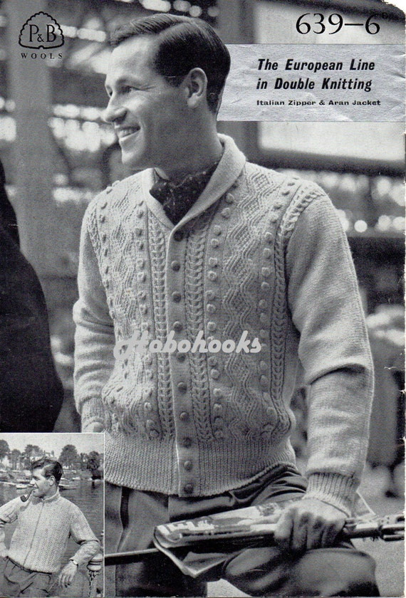 Mens Knitting Pattern Pdf Download Mens Zipper Jacket Button Shawl