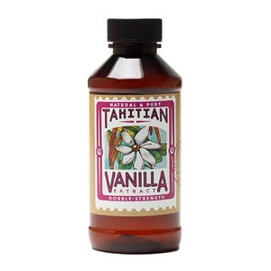 Tahitian Vanilla Extract, Natural Pure  4 oz Double Strength, by LorAnn