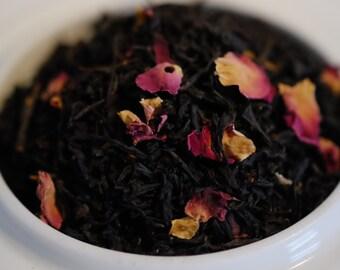 Earl Grey Tea: Rose Earl Grey Black Tea, Whole Leaf Loose Tea Blend with Bergamot