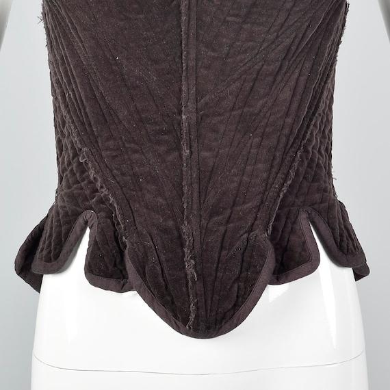 Laced Sleeveless Graham Top Vintage Separates Back Fashion Unique Vintage Gary Corset Brown Corset Cotton p1n58W60