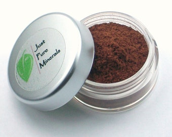 Coffee Vegan Eye Shadow - Cruelty Free Mineral Eye Shadow- 3g of product in a 10g sifter jar