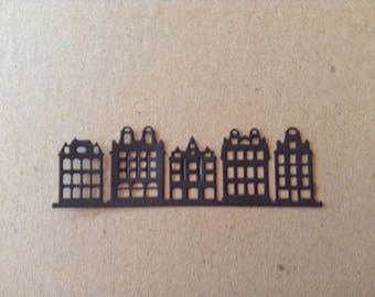 City Buildings Silhouette (3) die cut embellishment
