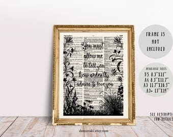 Pride and Prejudice, Prejudice, Jane Austen, Mr Darcy, Book Quotes, Book Lover Gift, Dictionary Page Print, Typography Art
