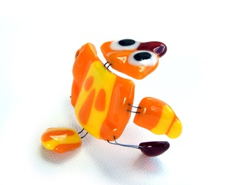 Fused glass Chicken