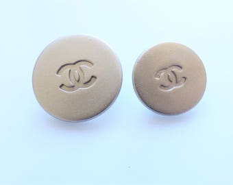Chanel CC Silver Buttons 16mm, 20mm / Price is for one button