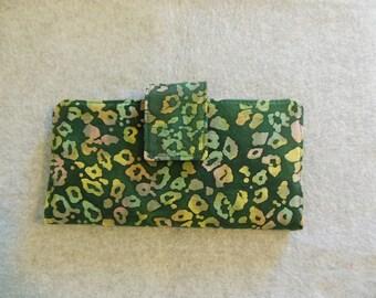 Fabric Wallet - Green Batik