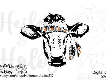 Gypsy calf svg, dxf, png, pdf, eps cut file for cricut and silhouette, t-shirts, decals, yeti cups, ranchy, punchy, ranch, heifer calf