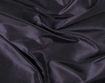 "54"" Wide 100% Silk Taffeta Aubergine by the yard (9000MT25)"